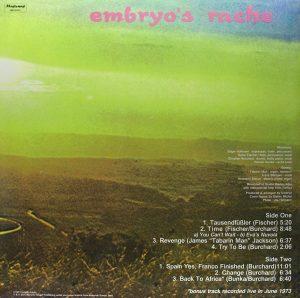 """Embryo - """"Embryo's Rache"""""""