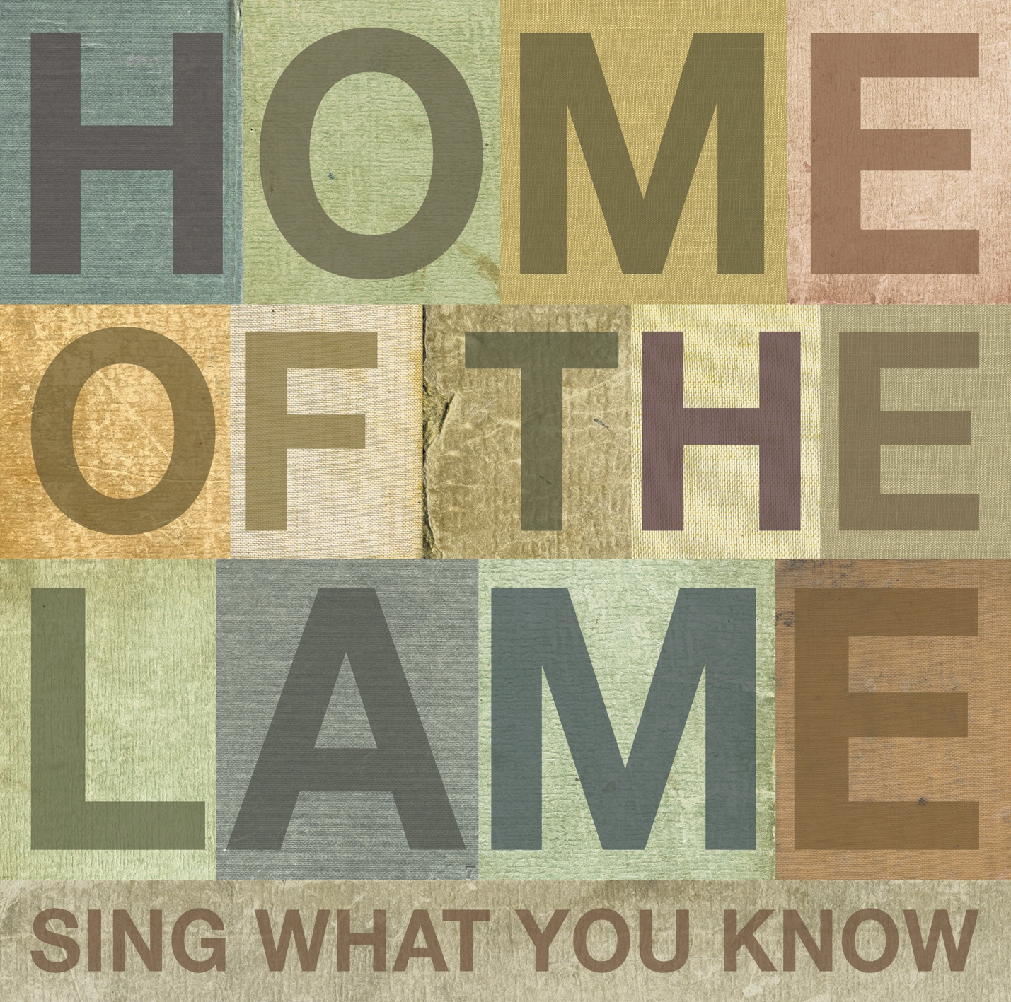 """Home Of The Lame - """"Sing What You Know"""""""