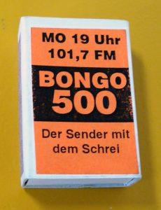 Mediengeschichte - Radio Bongo Zündholzschachtel