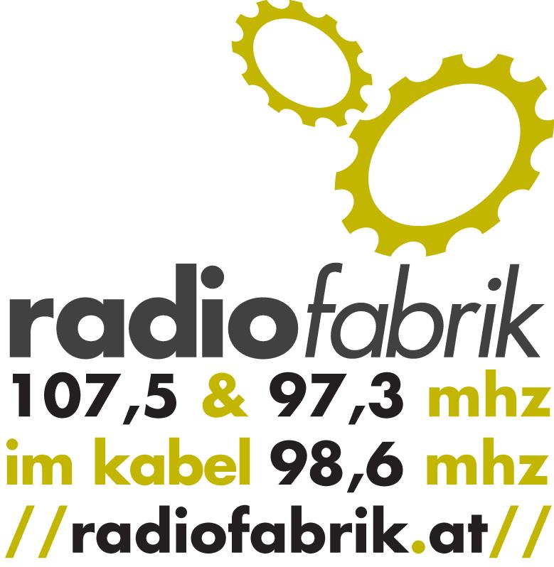Impressum - Radiofabrik Logo mit Frequenzen