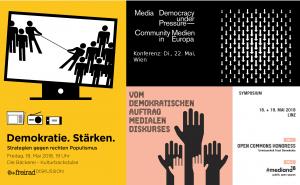 Medienpolitische Pfingsten 2018 - Collage Freirad