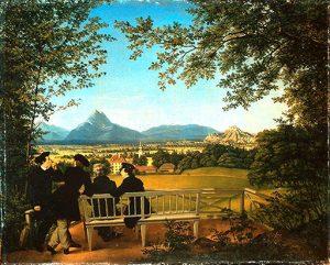 Aussicht vom Gaisberg auf Salzburg, 1817