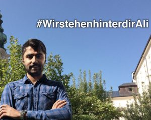 Ali Wajid nach Wien gebracht