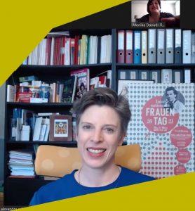 Alexandra Schmidt, die Frauenbeauftragte der Stadt Salzburg im Interview. (c) Monika Daoudi